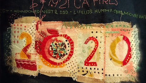 Textile collage by Nancy Walter