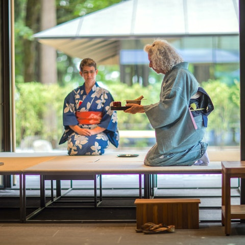 Demonstration of Chado, the Art of Tea at the Portland Japanese Garden. Courtesy of Jonathan Ley.