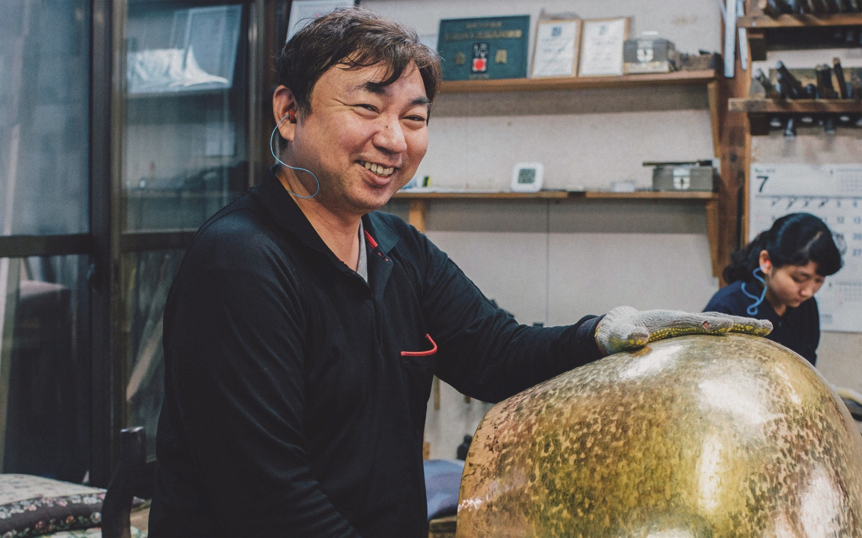 Traditional Brass Bell Crafting with Yoshinori