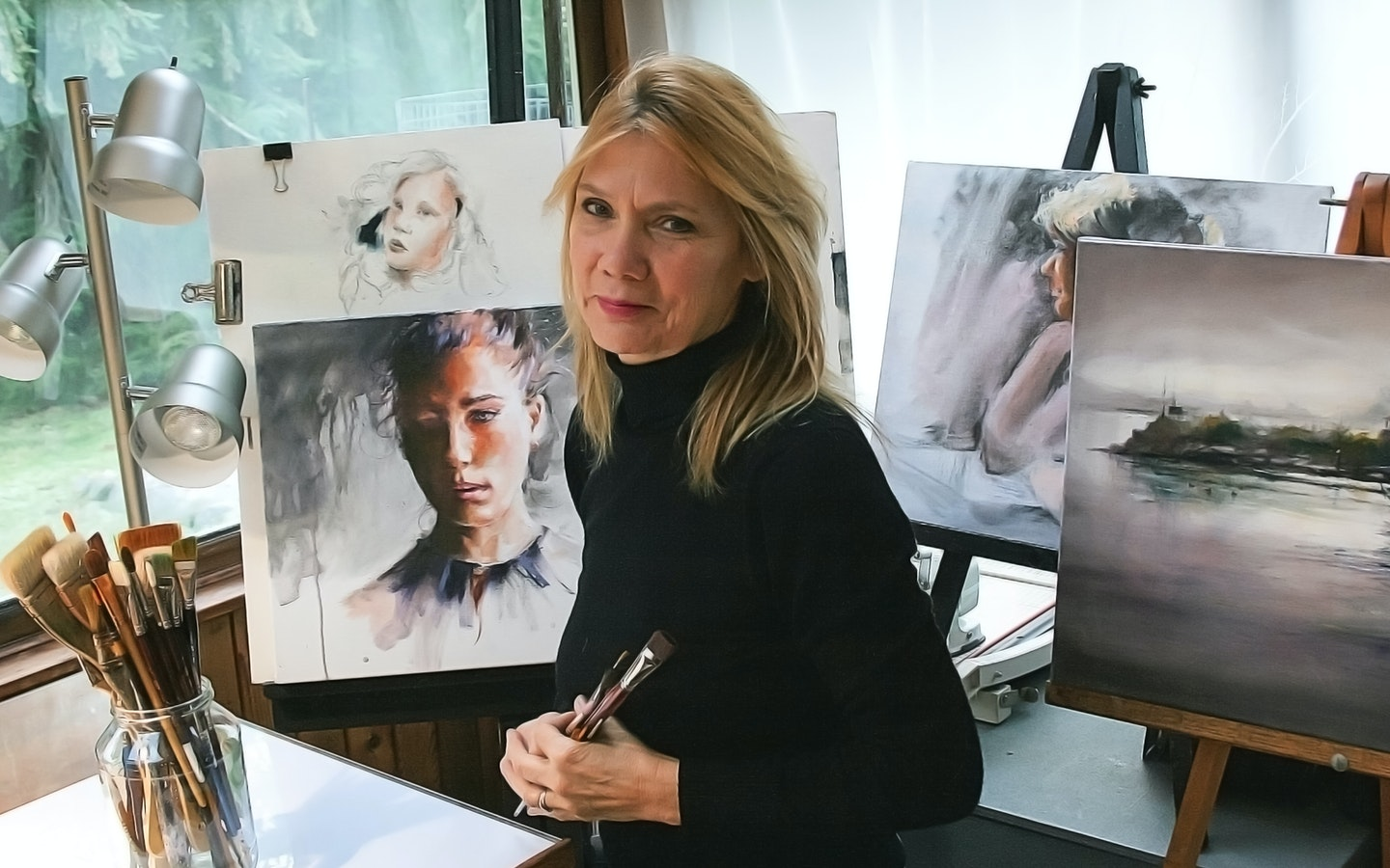 Painting and Charcoal Portraiture  with Peggy