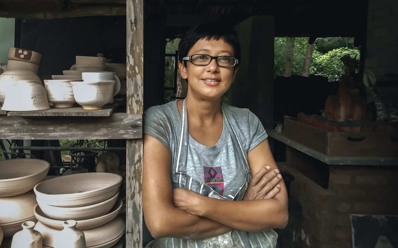 Stoneware and Sgraffito Pottery with Ranjita