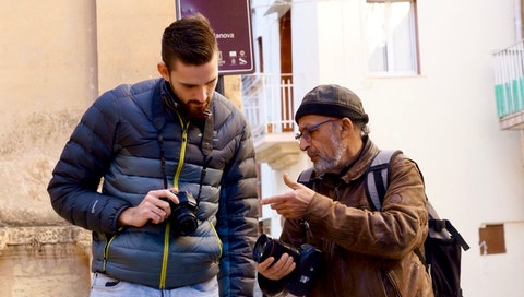 Learning photography and photojournalism from a master in Italy. Courtesy of Geetika Agrawal.