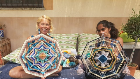 """""""From Antarctica to Spain: a high school student's story about art, travel and mandala-making 