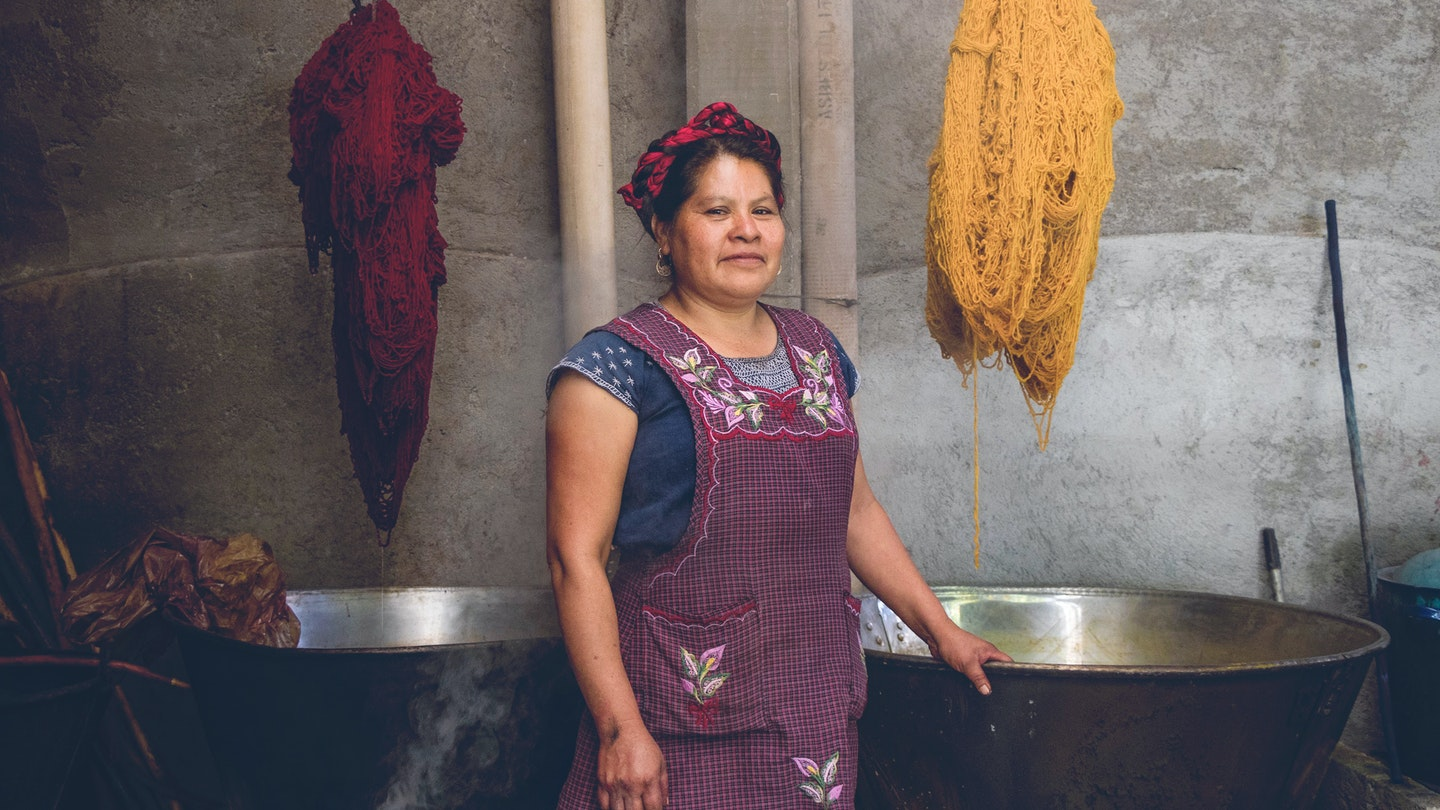Natural Dyeing and Indigenous Weaving with Juana