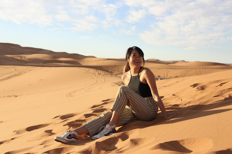 Me to be in the Sahara Desert. Courtesy of Zoe Nguyen.