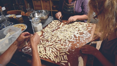 Learn to make home-made pasta.