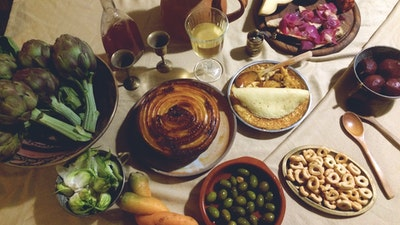 Use local ingredients to prepare historic and traditional meals from each era.