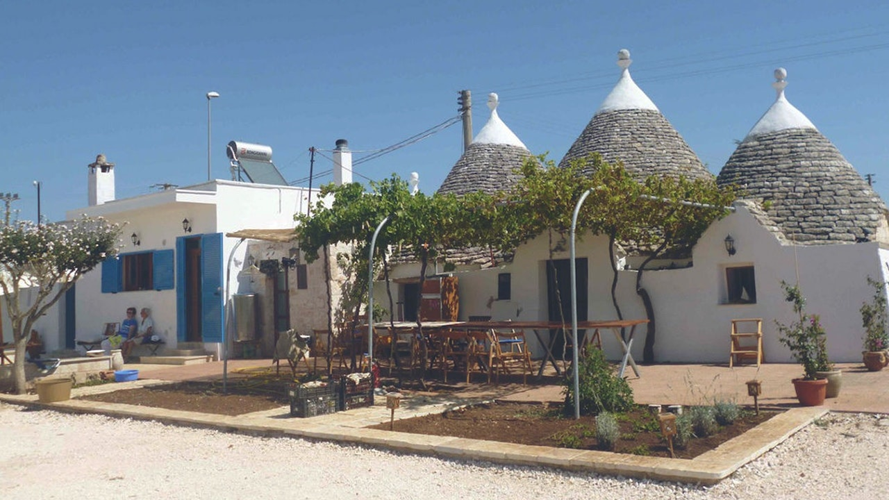 Stay in a trullo, a traditional Apulian dry stone hut with cone-shaped roof