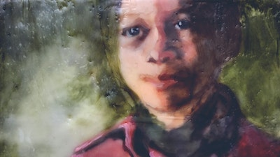 Child portrait encaustic painting | Learn the technique from Philadelphia based artist via Vacation with an Artist #art #artist #painting #philadelphia #wax #crafts #creativevacation #vawaa