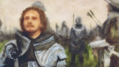 Knight encaustic painting portrait  | Learn the technique from Philadelphia based artist via Vacation with an Artist #art #artist #painting #philadelphia #wax #crafts #creativevacation #vawaa