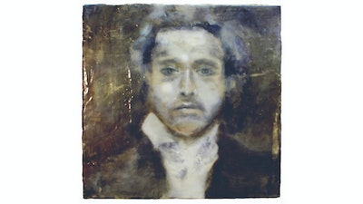 Male encaustic painting portrait  | Learn the technique from Philadelphia based artist via Vacation with an Artist #art #artist #painting #philadelphia #wax #crafts #creativevacation #vawaa
