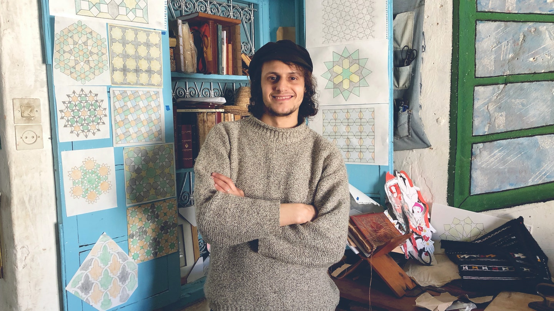 Islamic Geometry, Brass Etching, Bookbinding  with Hamza