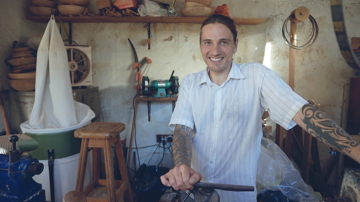Learn woodturning with Mauricio in Uruguay.