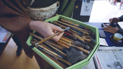 Learn about calligraphy tools, brushes, and inks.