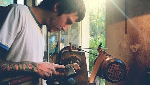 Mauricio in his studio in Montevideo, Uruguay. Courtesy of Mauricio.
