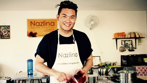 Ethan during his vacation with chef Nazlina in Penang, Malaysia. Courtesy of Ethan Hsu.