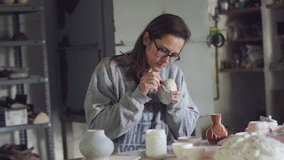 Spanish Ceramic Artist at Work. Learn from Anastasia the beautiful art of ceramic pottery.  #creativevacation #vawaa #discoverspain #claypottery #europe #spain #ceramicsidea #claycrafts #ceramicart #art #creativity #homedecor