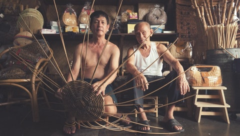 Learn Rattan Weaving with Sim. Courtesy of Sim.
