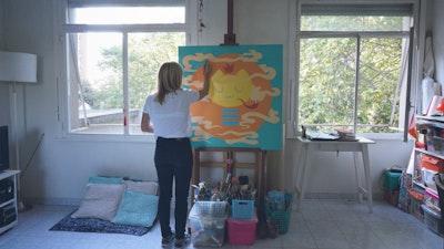 In the studio with street artist and painter Pum Pum via Vacation with an Artist  #creativevacations #vawaa #streetart #urbanart #buenosaires #slowtravel #wallmurals #creativity #argentina