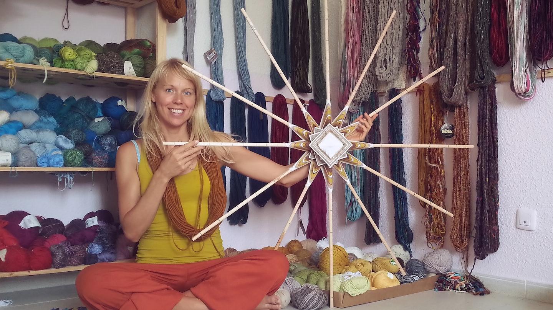 Mandala Weaving with Cloe