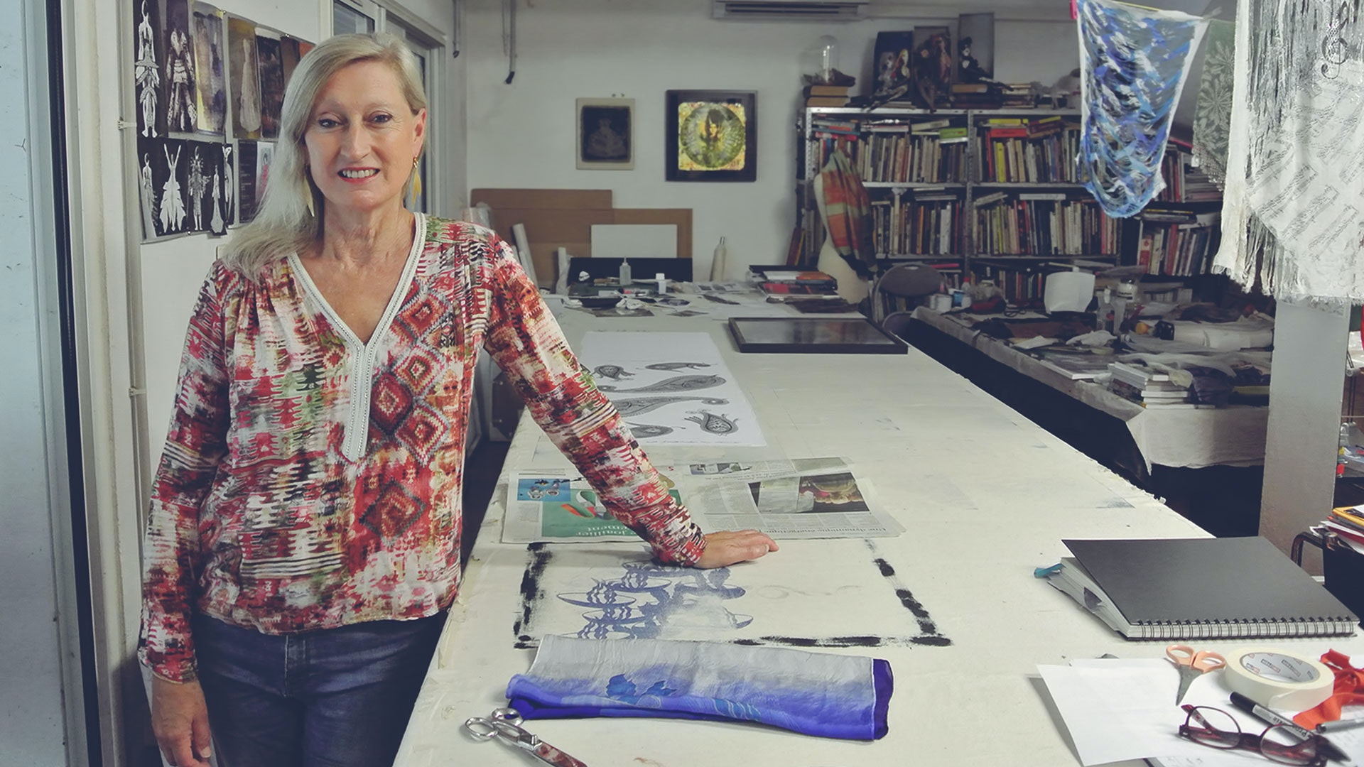 Textile Printing with Andrea