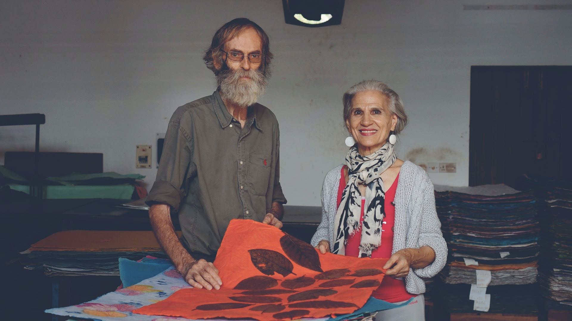 Paper Making with Luisa and Herve