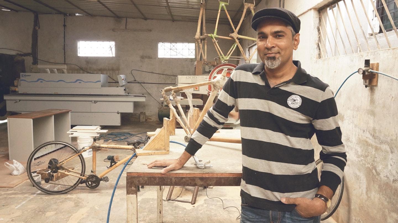 Bamboo Bicycle Making with Vijay