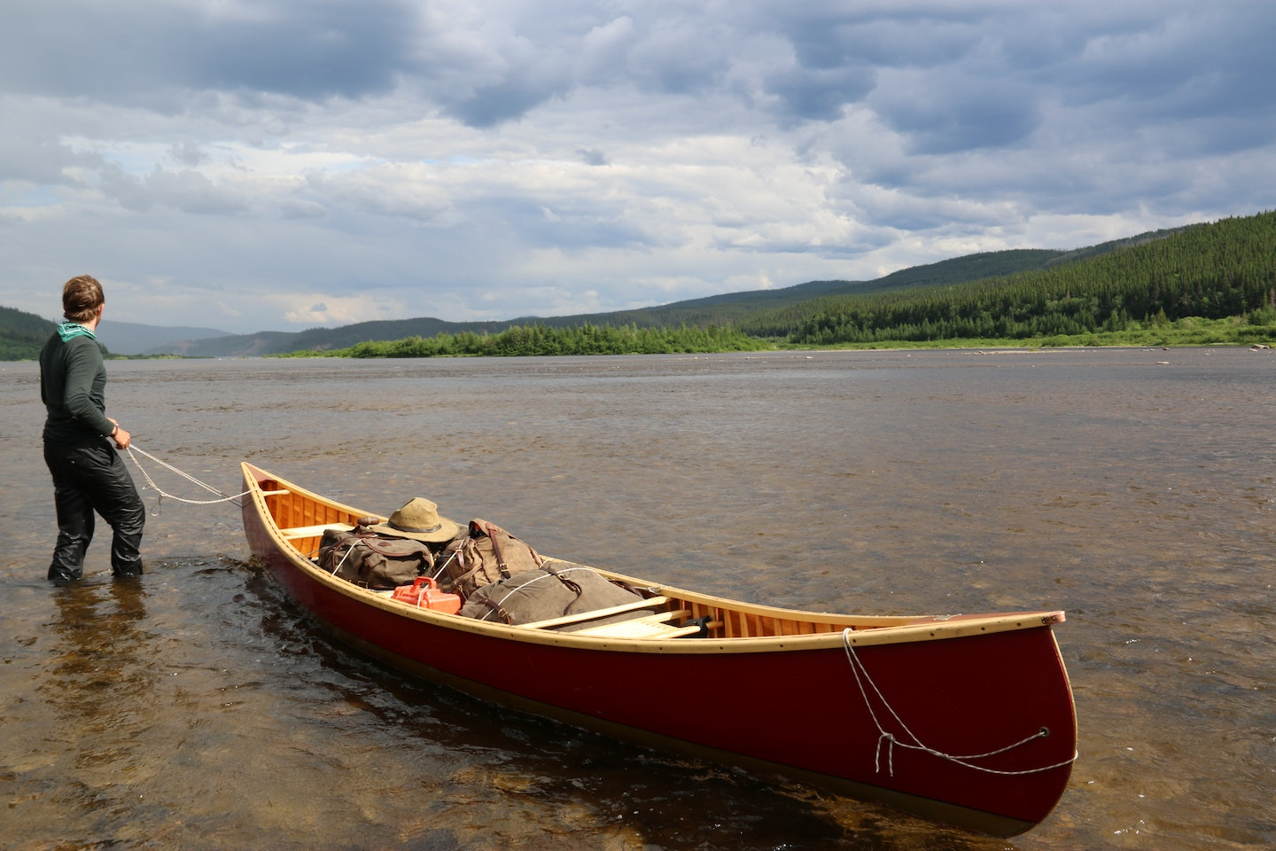 Handbuild your very own canoe and then paddle it down the river with VAWAA Artist Rollin in Maine.