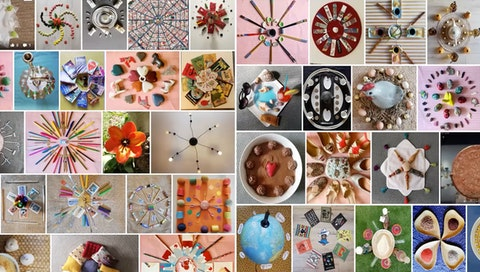 Alexandra Marizy's and her family's collective mandala project.